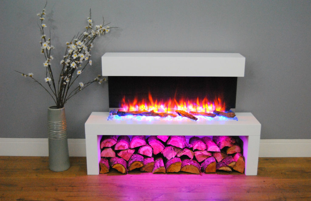 Wall Hung Fire Surrounds: Wykeham Wall Mounted Electric Fire