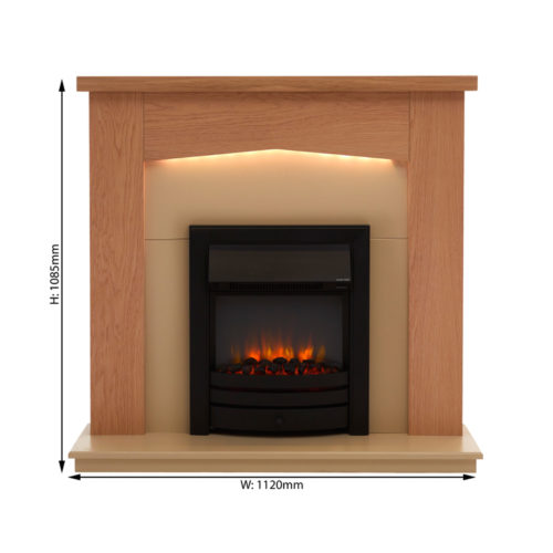 Cayton Electric Fireplace Suite Endeavour Fires And