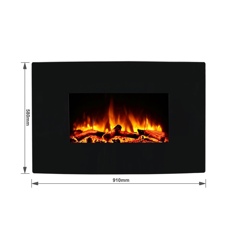 Egton Black Wall Mounted Electric Fire Endeavour Fires
