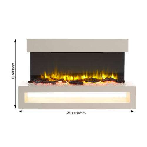 Runswick Wall Mounted Electric Fire - Endeavour Fires and ...