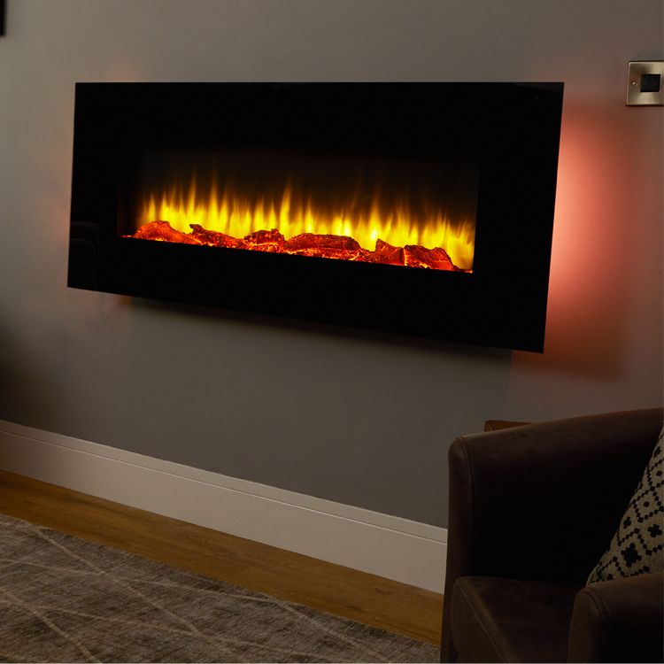 Holbeck Wall Mounted Electric Fire Endeavour Fires And