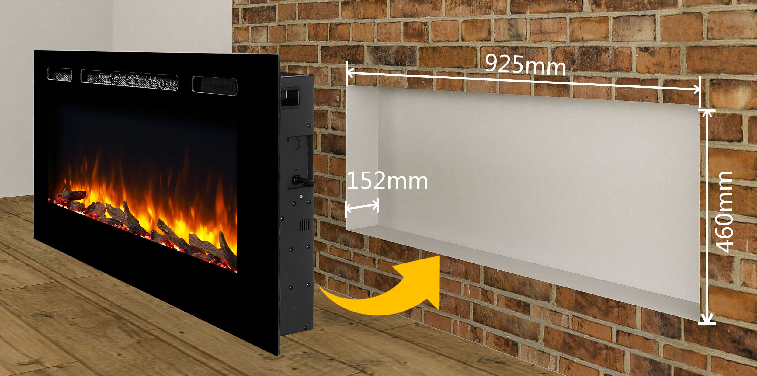 Hawnby Recessed Electric Fire Endeavour Fires And Fireplaces