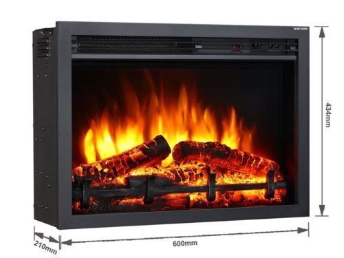 Our most popular fire is available to purchase without our specially designed mantle pieces.  Suitable for installing in a mantle piece or insetting (with adequate ventilation).100% LED lighting and Flame effect having amazingly realistic flame effect.Full remote control with LCD display to turn the fire on and off, 1kW & 2kW, thermostatically control the room temperature, time to off control, 4 level brightness flame effect, 7 day programmable timer function.