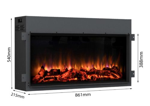 Our most popular fire is available to purchase without our specially designed mantle pieces.  Suitable for installing in a mantle piece or insetting (with adequate ventilation).100% LED lighting and with amazingly realistic flame effect.Full remote control with LCD display to turn the fire on and off, 1kW & 2kW, thermostatically control the room temperature, 7 day programmable timer, 4 level brightness flame effect.Updated remote control as of 19/12/2017PLEASE NOTE: As of 19/12/2017 the Danby Fire complies with European Commissions Ecodesign Directive.